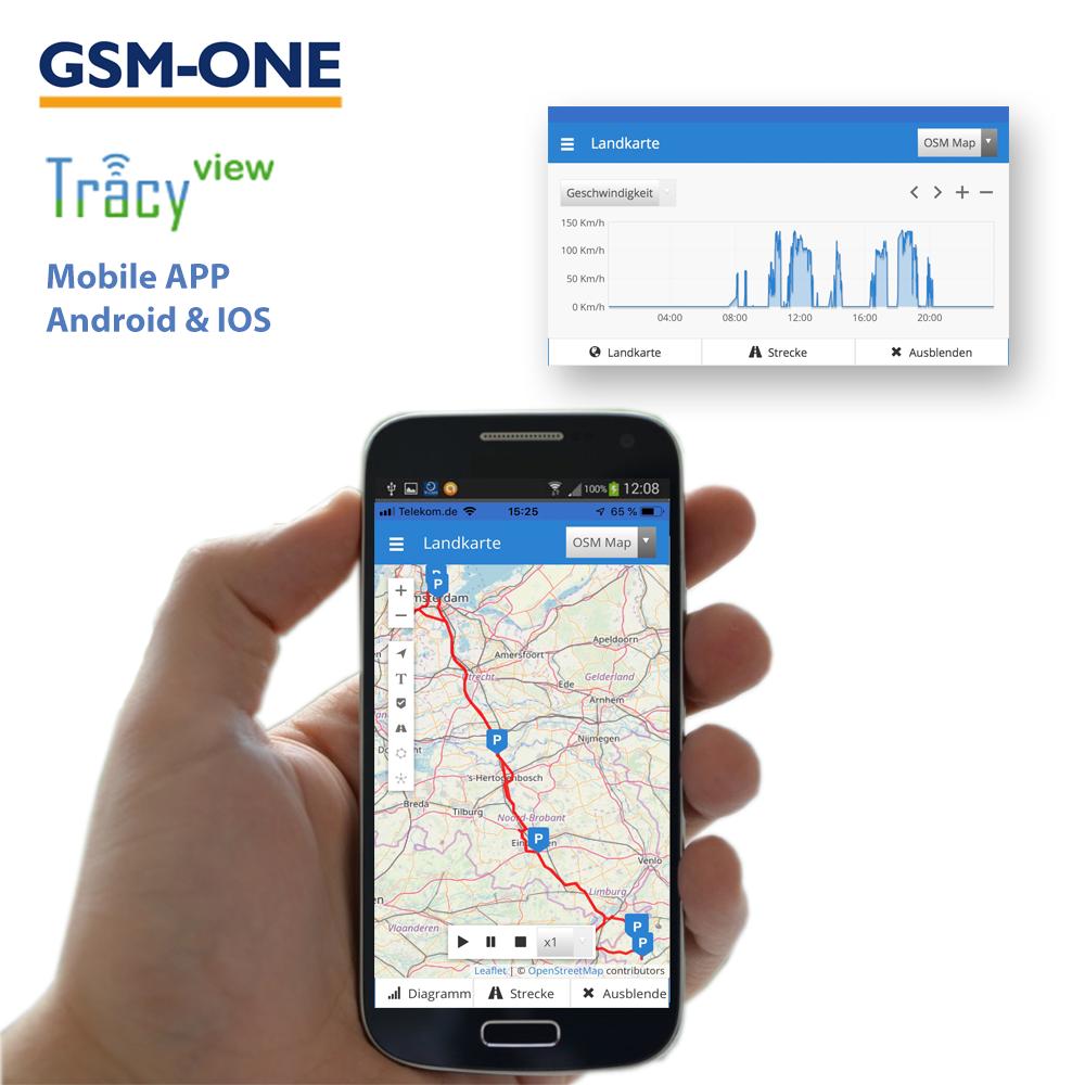 Sofortstartpaket TRACY-RIDER inkl. SIM-Karte, TRACY-VIEW Portal, EU-Simkarte und Datenflat