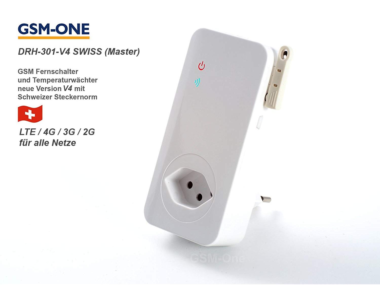 GSM Fernschaltsystem DRH-301-V4 SWISS  MASTER , Schweizer Steckernorm