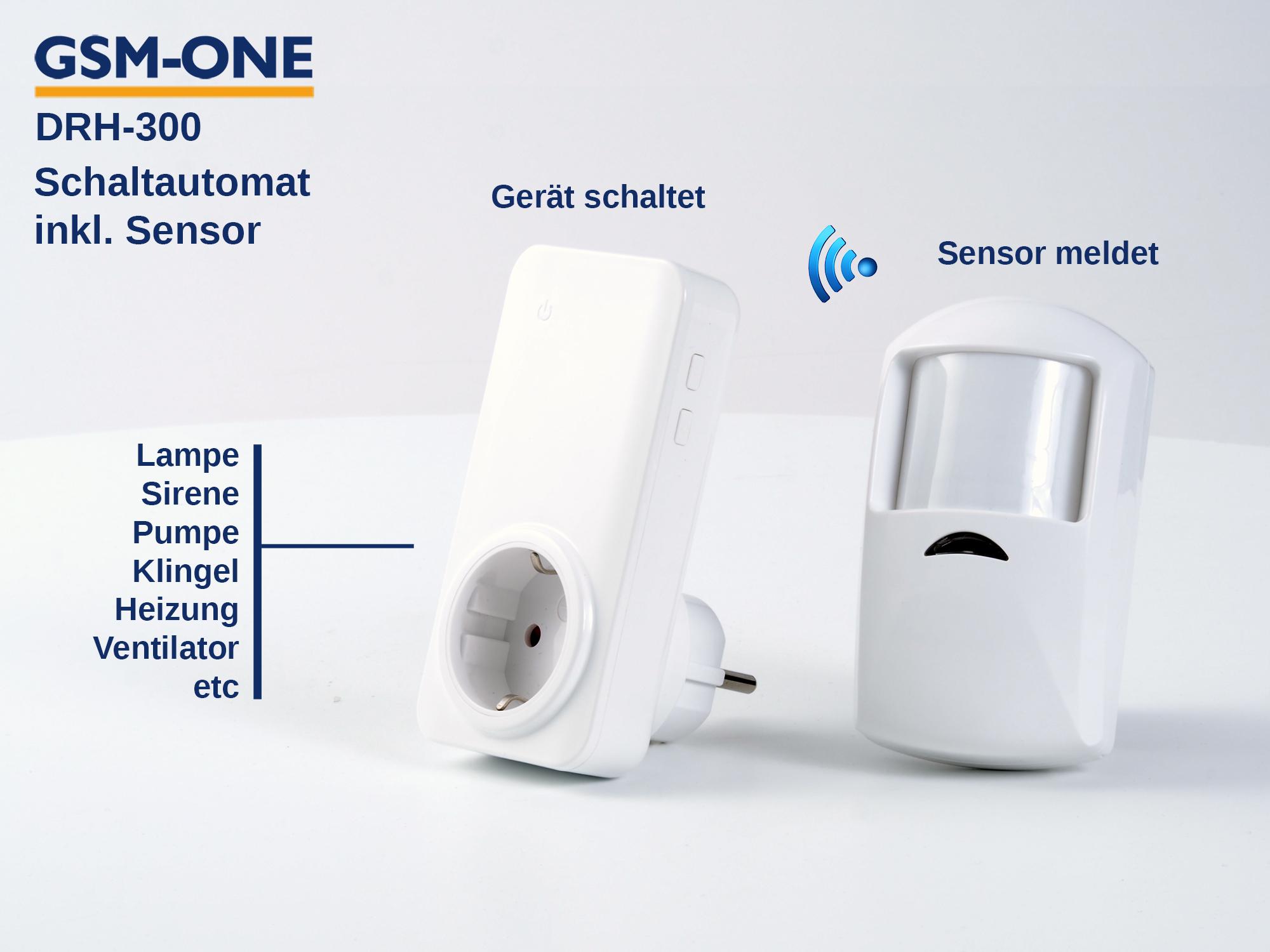 Sensor SCHALTAUTOMAT DRH-300 inkl. Bewegungsmelder