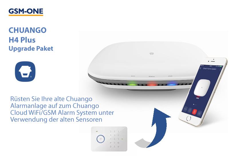 CHUANGO WiFi/GSM Cloud Alarmsystem H4+ , UPGRADE-Paket