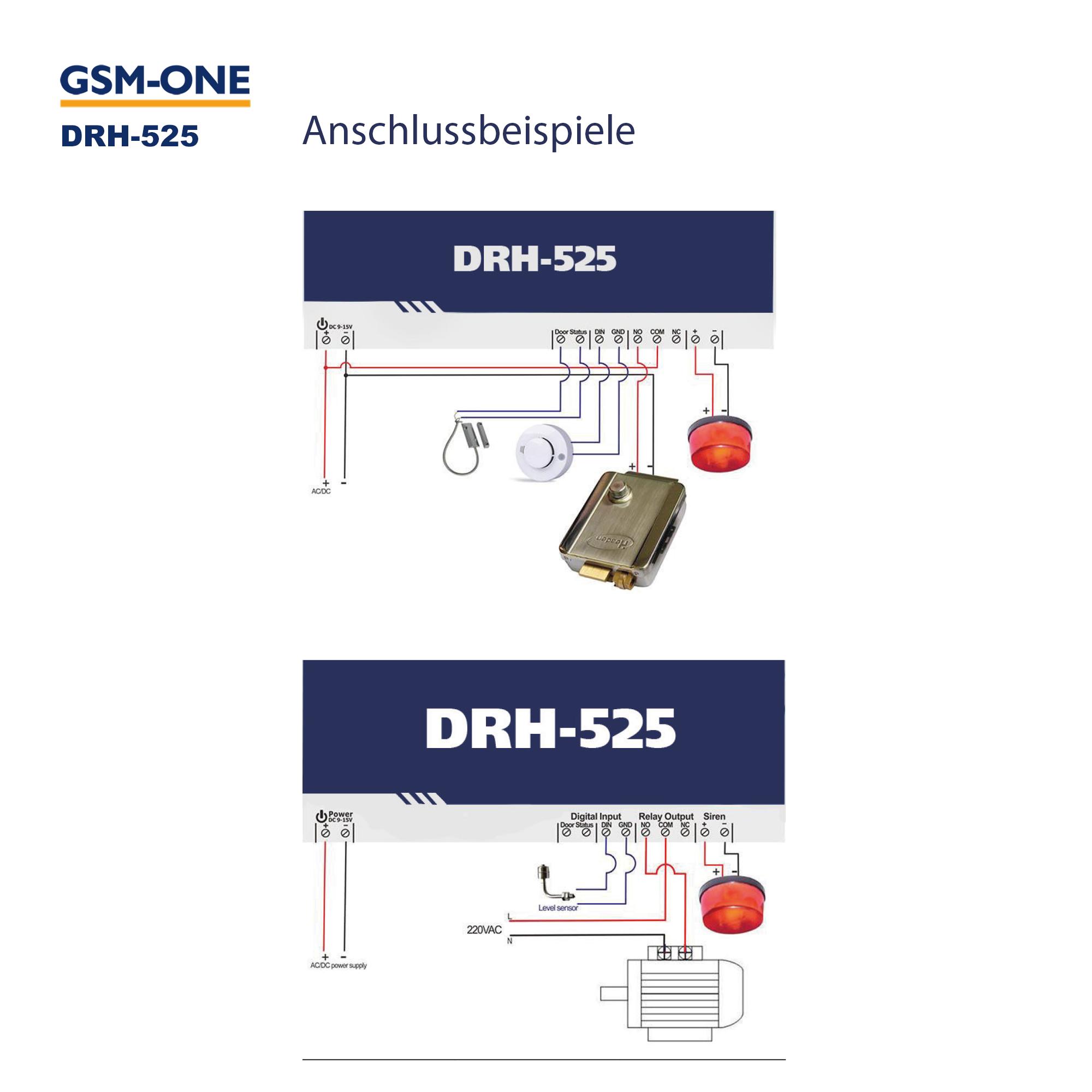 GSM-Schalter, 12V, GATE-Opener DRH-525, Komplettpaket