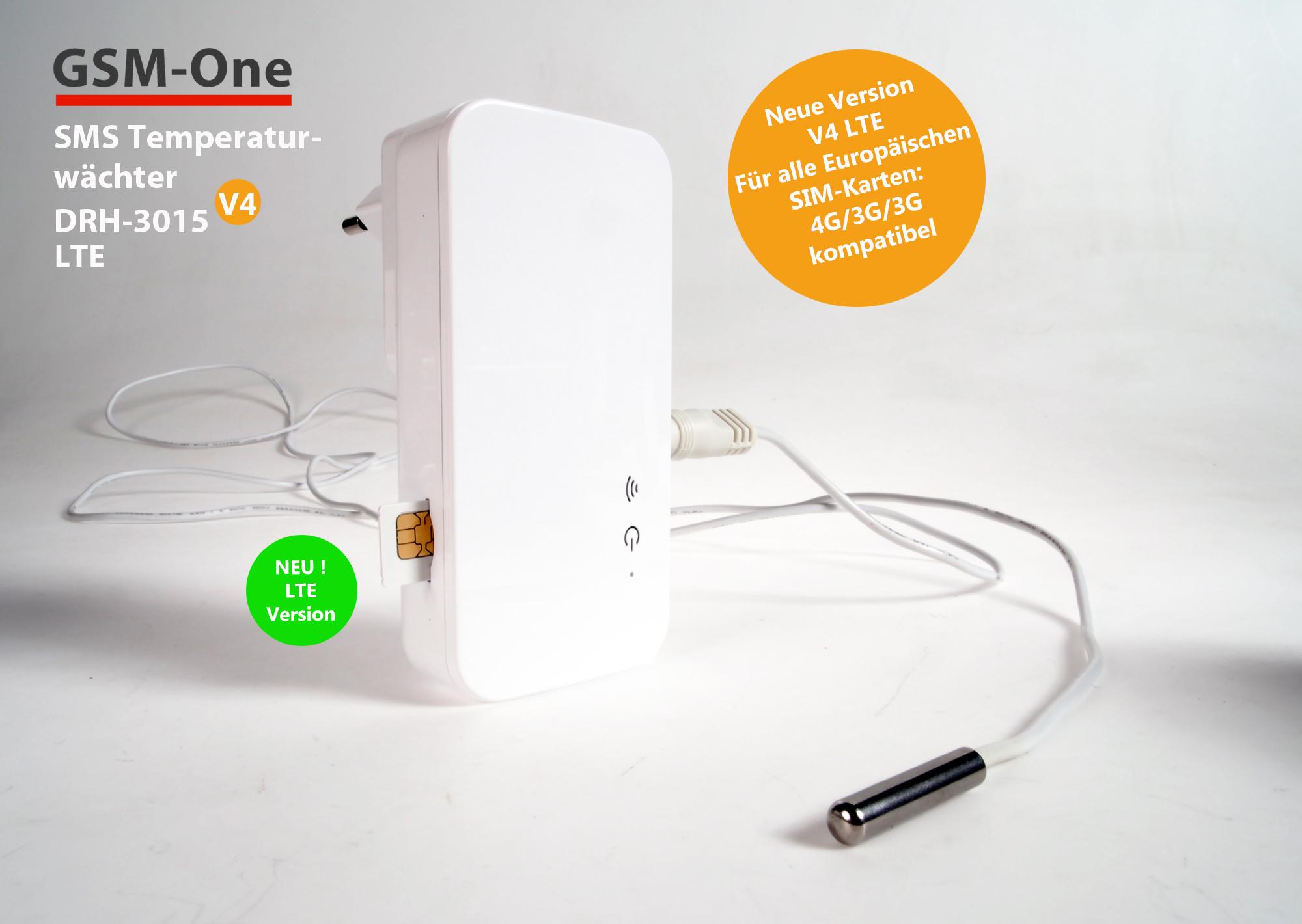 GSM-Temperaturwächter DRH-3015-V4 , 4G/LTE VERSION