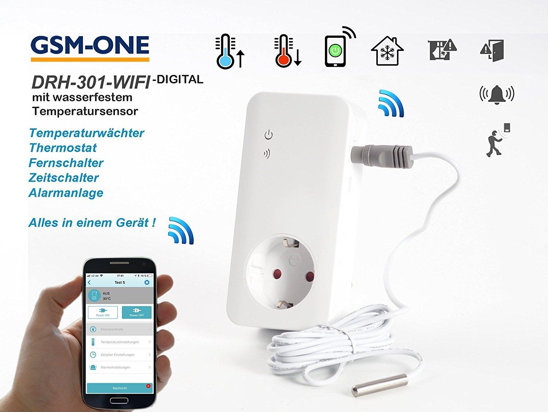 WIFI Fernschalter, Temperaturwächter und Smart-Home Heimwächter (digitale Version)