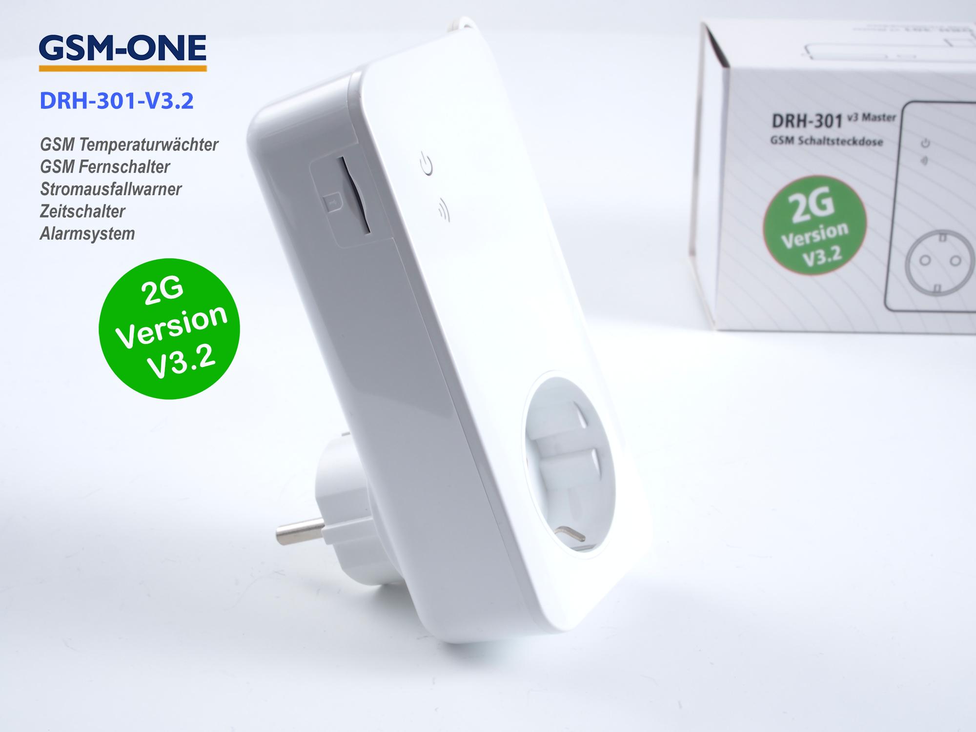 Fernschalter und Temperaturwächter DRH-301-V3.2 MASTER analog + digital  (2G)